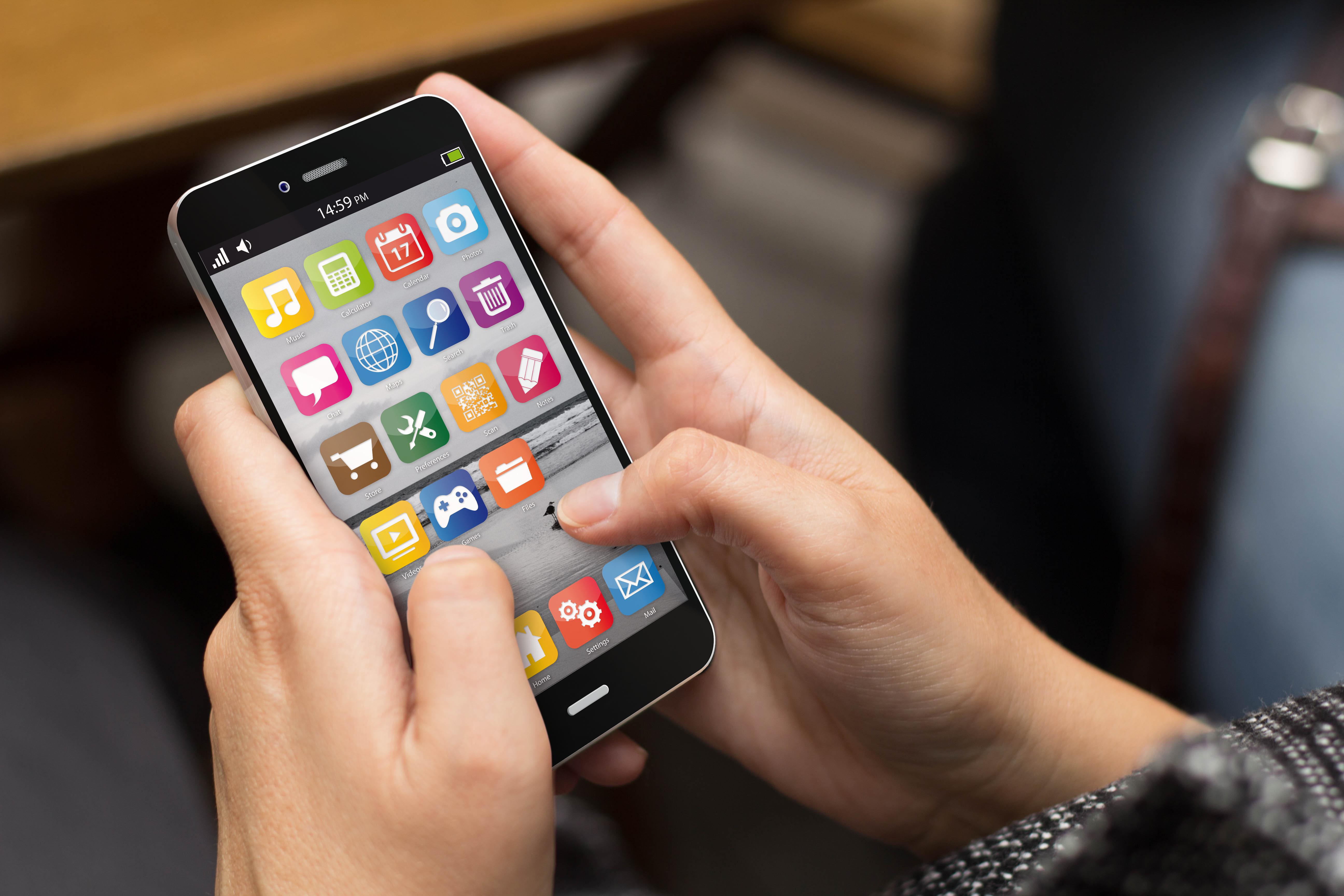 smart phone hands
